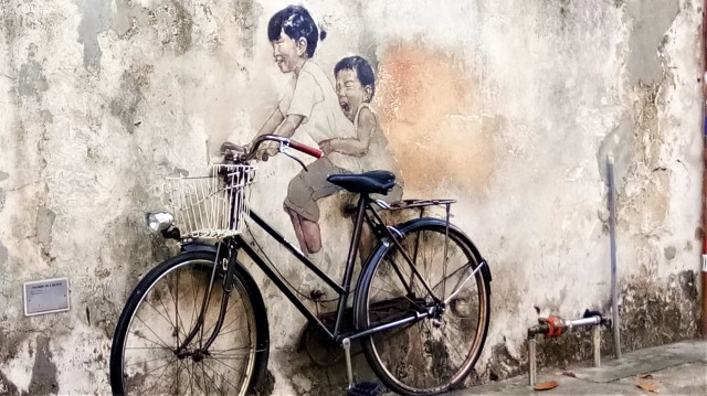 Street Art - Bicycle Ride (Armenian Street)