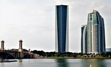 The skyline as viewed from the edge of Tasik Putrajaya