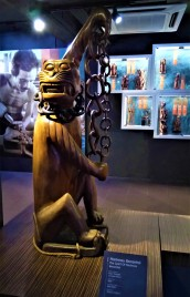 The spirit of 'Harimau Berantai' manifested by the wood carving. (photo credit : Shah Said ; @ all rights reserved)
