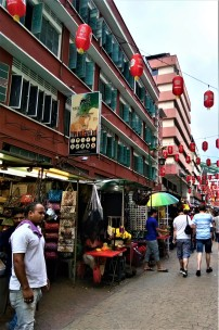 Street scene at Petaling Street. (photo credit : Shah Said ; @ all rights reserved)