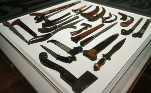 An exhibit of different types of weapons - Exhibit from The Sultan Abu Bakar Museum, Pekan, Pahang. (photo credit : Shah Said ; @ all rights reserved)