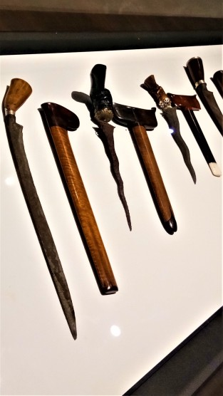 An array of different types of the Keris - Exhibit from The Sultan Abu Bakar Museum, Pekan, Pahang. (photo credit : Shah Said ; @ all rights reserved)
