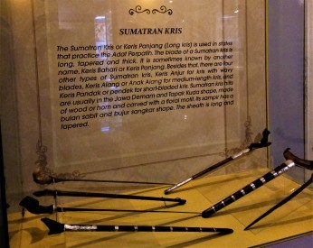 The Sumatran Keris - Exhibit from The Sultan Alam Shah Museum, Shah Alam, Selangor. (photo credit : Shah Said ; @ all rights reserved)