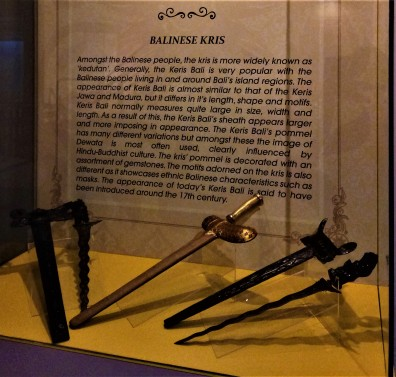 The Balinese Keris - exhibit from The Sultan Alam Shah Museum, Shah Alam, Selangor. (photo credit : Shah Said ; @ all rights reserved)