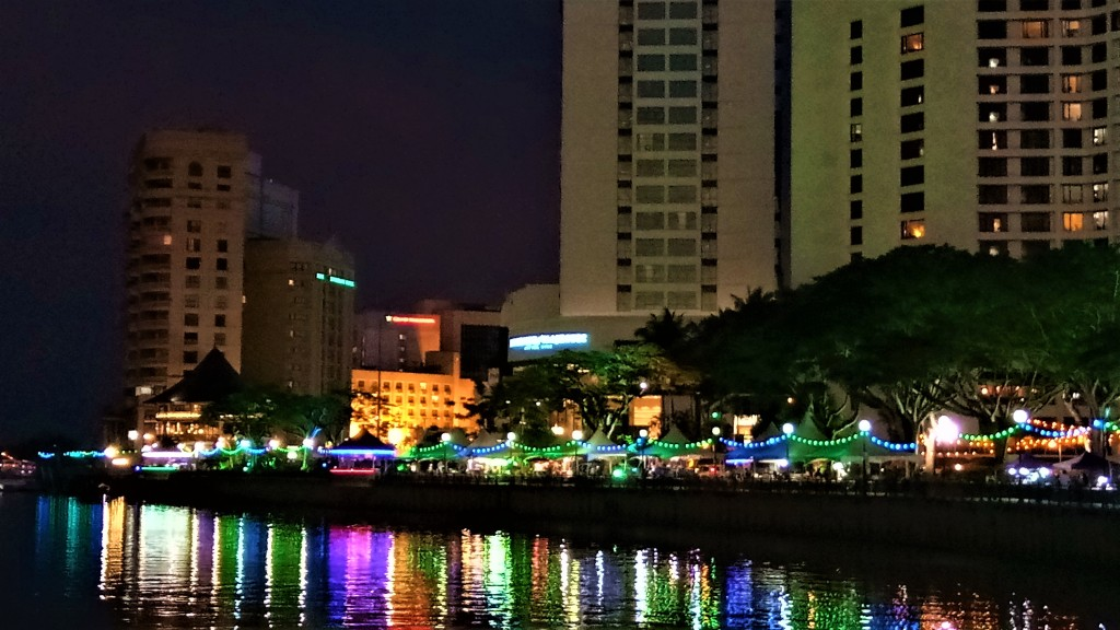 Night At The Kuching Waterfront