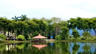 Another gazebo on the far side of the lake. (photo credit : Shah Said ; @ all rights reserved)