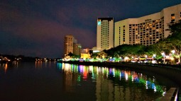 Night view of the waterfront. (photo credit : Shah Said ; @ all rights reserved)