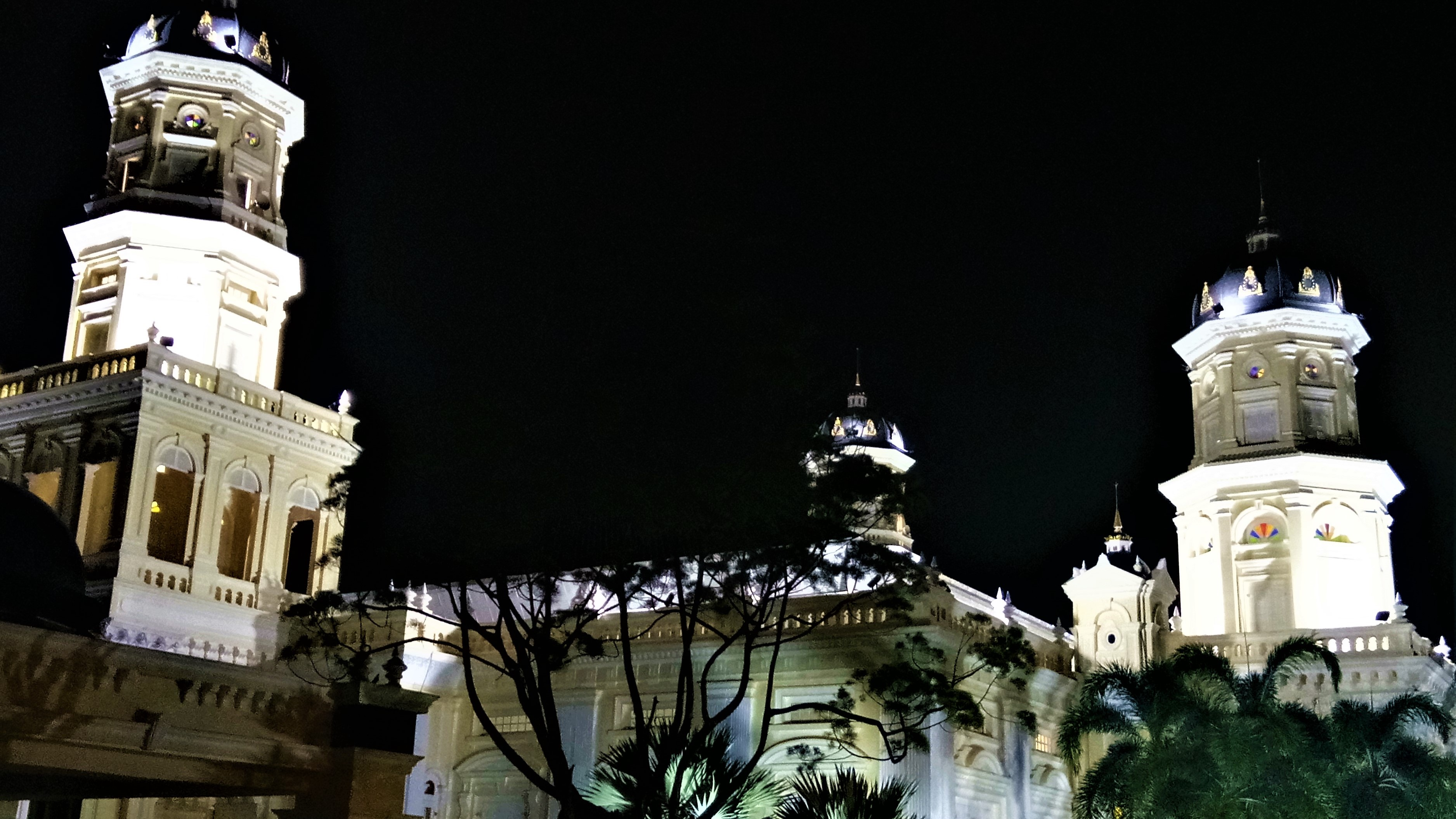 JB At Night : The Sultan Abu Bakar State Mosque